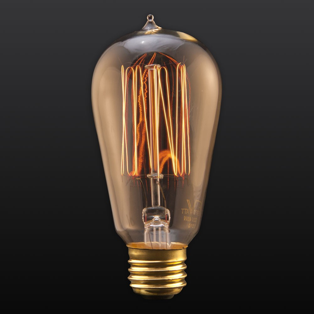 40w 1910 squirrel cage tungsten filament edison bulb Tungsten light bulbs