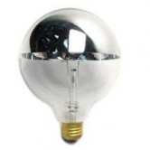 60 Watt G25 Incandescent 120V Medium (E26) Base Clear Silver Bowl Globe Bulb (60G25/SB/CL/120)