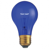 25 Watt A19 Incandescent 130V Medium (E26) Base Transparent Blue Bulb (A19BLU25T)