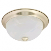 "Sylvania 20 Watt 11"" LED 0-10V Dimmable Brushed Nickle Flush Dome Fixture - 2700K 120V 80 CRI 1000 Lumen (LEDFLUSHDOME11IN20DIM827BN)"