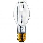 GE 50 Watt ED23.5 High Pressure Sodium 1900K Mogul (E39) Base Clear Bulb - S68/O (LU50/H/ECO)