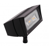 RAB 18 Watt LED Floodlight - 3000K 120V-277V 82 CRI 2042 Lumen Bronze Fixture - Mounting Arm - DLC Standard (FFLED18Y)