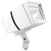 RAB 39 Watt LED Floodlight - 3000K 120V-277V 70 CRI 5509 Lumen White Fixture - Mounting Arm (FFLED39YW)