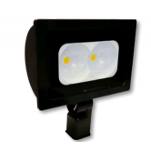 "Cree 118 Watt LED Medium Floodlight - 4000K 120V-277V 70 CRI 12,000 Lumen Dark Bronze Fixture - Includes 2"" Adjustable Fitter (C-FL-A-RTF2-12L-40K-DB)"