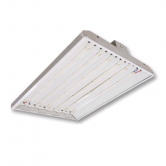 "Cree 160 Watt 24"" LED 0-10V Dimmable Linear High Bay Fixture with Clear Acrylic Lens - 5000K 120V-277V 80 CRI 20,000 Lumen - Includes V-hook and 36"" Chain - DLC Premium (C-PHB-A-L2F-20L-50K-WH)"