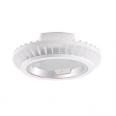 "RAB 104 Watt 18"" LED High Bay Fixture with Tempered Glass Lens - 5100K 120V-277V 82 CRI 10,375 Lumen -  Includes Heavy-Duty 3/4"" NPS Hook and 3-Foot Safety Chain (BAYLED104W)"