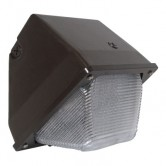 30 Watt LED Wallpack - 5000K 120V-277V 80 CRI 2500 Lumen Bronze Fixture - DLC Listed (LEDWP30W-5K)