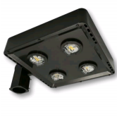 Cree 119 Watt LED Type V Distribution Shoe Box - 5000K 120V-277V 70 CRI 15,200 Lumen Dark Bronze Fixture - DLC Premium (C-AR-A-SQT5-15L-50K-DB)