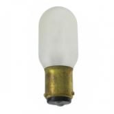 15 Watt T7 Incandescent 130V Double Contact (BA15D) Bayonet Clear Shatter Resistant Coated Bulb (15T7-130V-DC TUFF COATED)