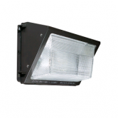 Sylvania 75 Watt LED Wallpack with Non-Cutoff Distribution - 4000K 120V-277V 70 CRI 8900 Lumen Bronze Fixture - DLC Standard (WALPAK2N/075UNV740/NC/BZ)