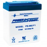 6V 8Ah Backup Battery for Emergency/Exit Fixtures (PS-682)