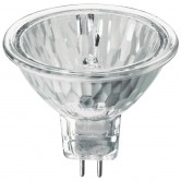 Ushio 50 Watt MR16 Halogen 3100K 12V Bipin (GU5.3) Base Covered Glass Flood Bulb - EXN (EXN/FG/ULTRA)