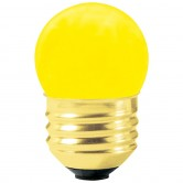 7.5 Watt S11 Incandescent 130V Medium (E26) Base Ceramic Yellow Sign Bulb (7.5S11CY/I)