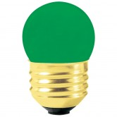 7.5 Watt S11 Incandescent 130V Medium (E26) Base Ceramic Green Sign Bulb (7.5S11CG/I)