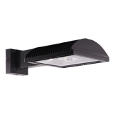 RAB 78 Watt LED Area Light Wallpack - 5100K 480V 71 CRI 10491 Lumen Bronze Fixture - DLC Premium (WPLED4T78/480)