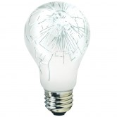 100 Watt A19 Incandescent 130V Medium (E26) Base Teflon Shatter Resistant Coated Bulb (100A/TEF)