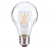 Satco 7 Watt A19 LED 2700K 120V 810 Lumen 80 CRI Medium (E26) Base Clear Dimmable Bulb (7A19/CL/LED/E26/27K ES/120V)