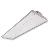 "Cree 220 Watt 46"" LED 0-10V Dimmable Linear High Bay Fixture with Clear Acrylic Lens - 5000K 120V-277V 80 CRI 27,000 Lumen - Includes V-Hook and 36"" Chain - DLC Premium (C-PHB-A-L4F-27L-50K-WH)"
