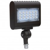 15 Watt LED Floodlight - 5000K 120V-277V 80 CRI 1450 Lumen Bronze Fixture - Includes Knuckle Mount - DLC Standard (LEDMPAL15-K)