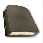 Cree 80 Watt LED Large Wallpack-Flood with Tempered Glass Lens - 4000K 120V-277V 70 CRI 8100 Lumen Dark Bronze Fixture - Includes Mounting Plate (C-WP-A-SL-8L-40K-DB)