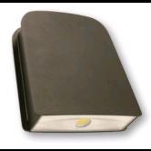 Cree 40 Watt LED Small Wallpack-Flood with Tempered Glass Lens - 5000K 120V-277V 70 CRI 3900 Lumen Dark Bronze Fixture - Includes Mounting Plate (C-WP-A-SL-4L-50K-DB)